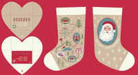 Christmas Panels - North Pole Stockings Fabric - Trapunto