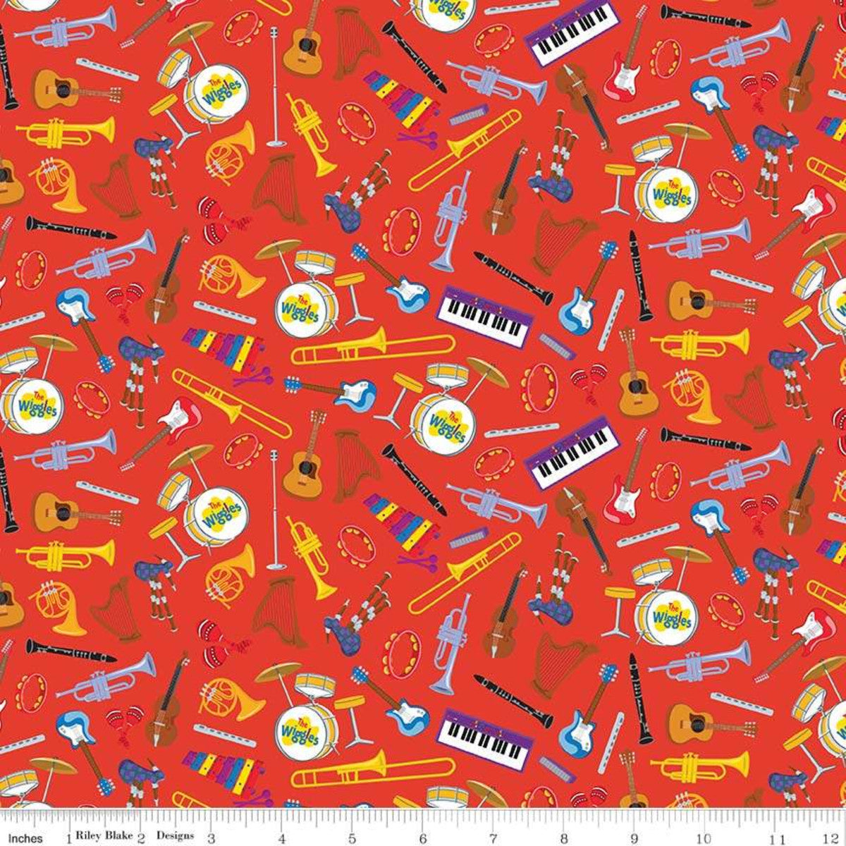 The Wiggles Fabric - Trapunto