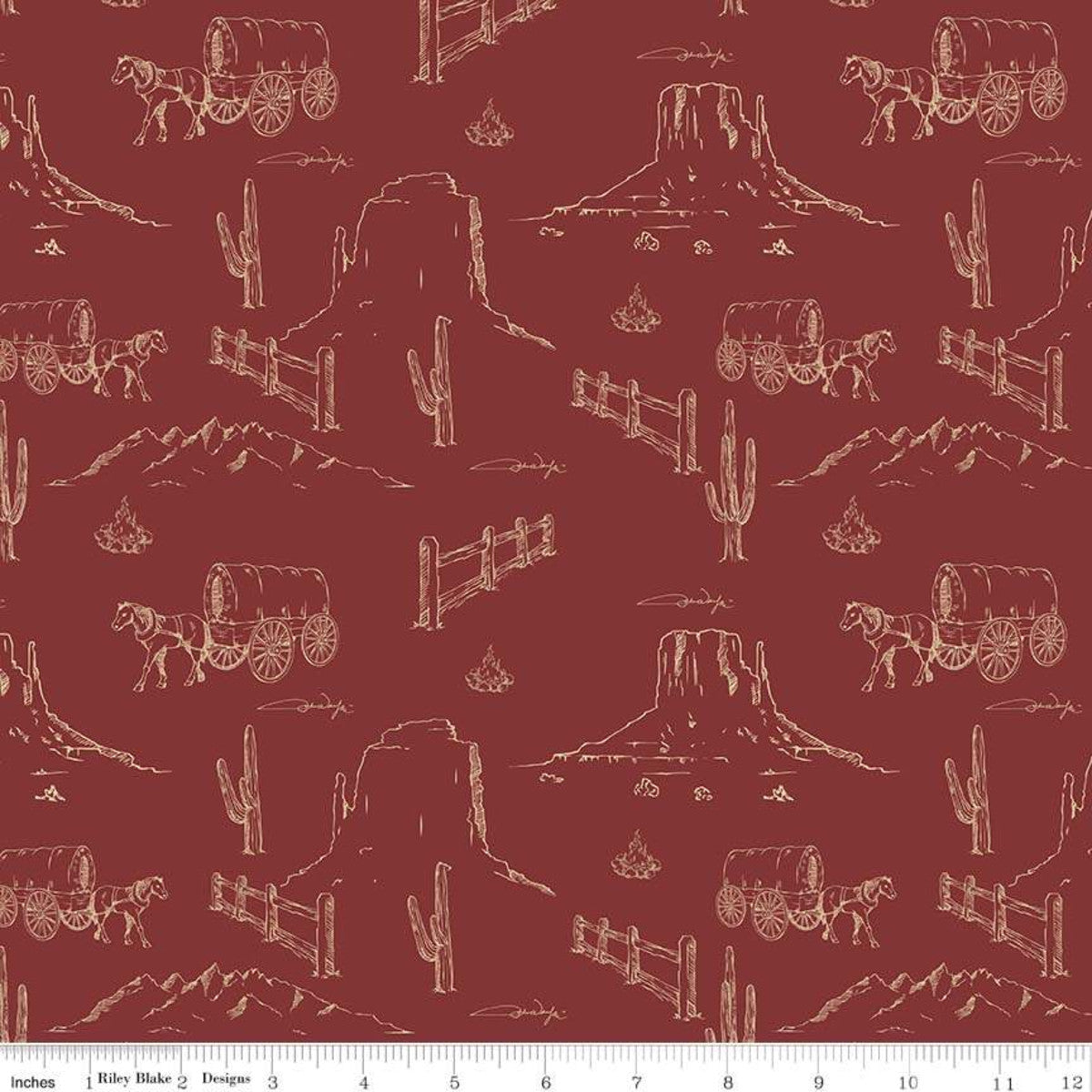 John Wayne - Dusty Trail Fabric - Trapunto