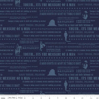 John Wayne - Quotes Fabric - Trapunto