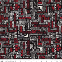 Wild At Heart - Words Fabric - Trapunto