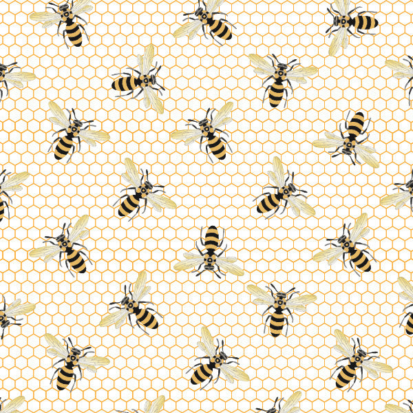 Queen Bee Fabric - Trapunto