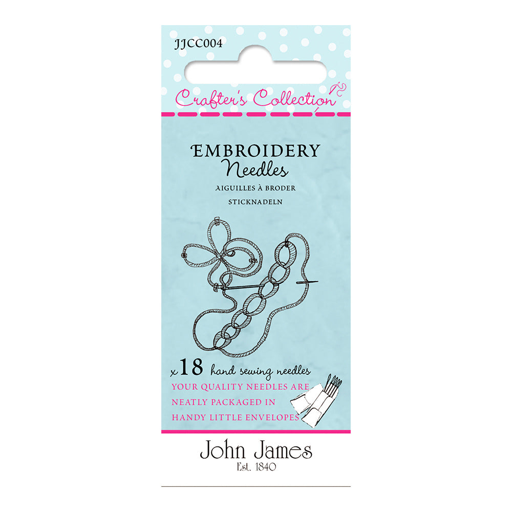 John James Embroidery Needles - Size 3/7