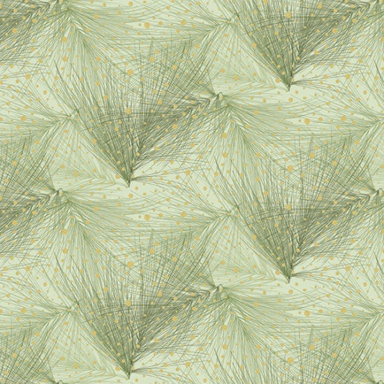 Mixed Metals - Feathers Fabric - Trapunto