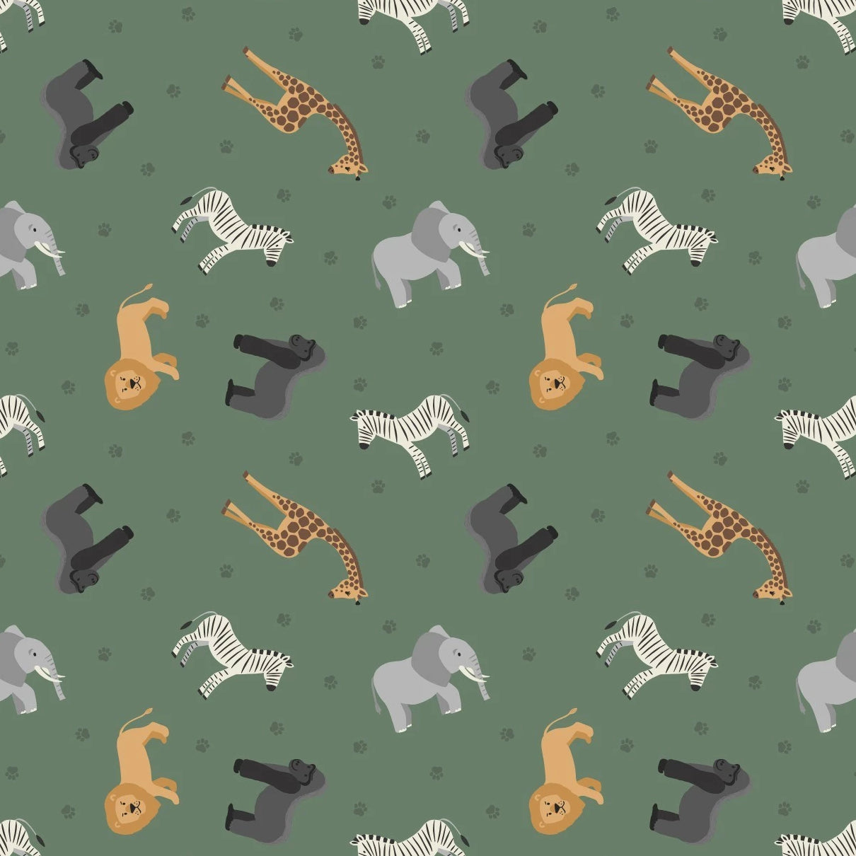 Small Things... World Animals - Africa Fabric - Trapunto