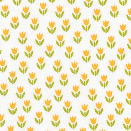 Cozy Cotton Flannel - Tulips Fabric - Trapunto