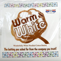 "Warm & White Batting 90"" Batting - Trapunto"