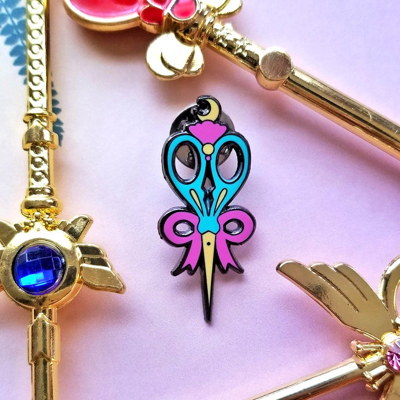 Magical Girl Scissors Enamel Pin Enamel Pin - Trapunto