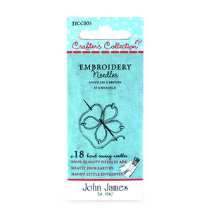 John James Embroidery Needles - Size 7/10 Needles - Trapunto