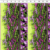 Misty Meadow - Border Print Fabric - Trapunto