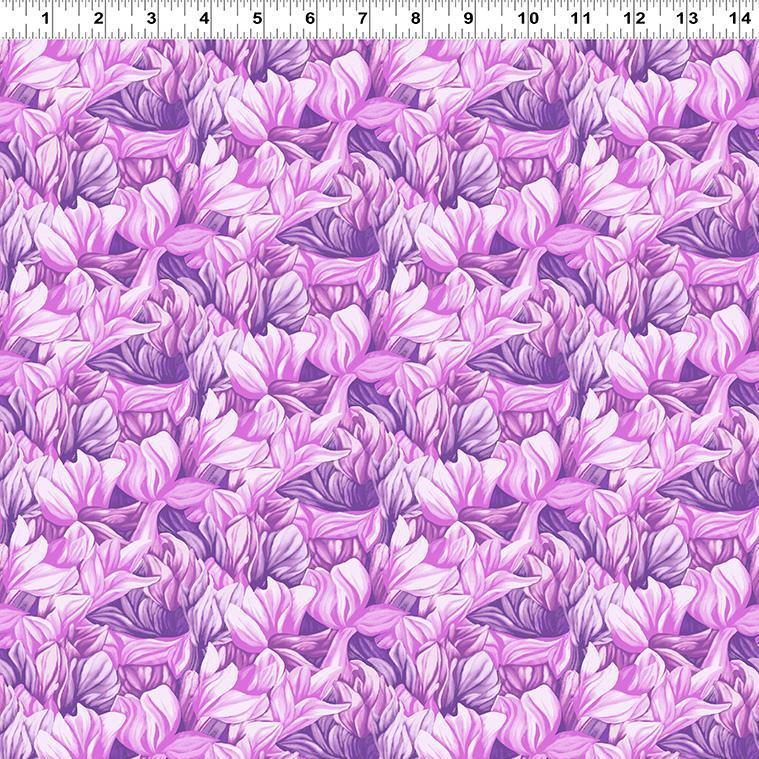 Misty Meadow - Flowers Fabric - Trapunto