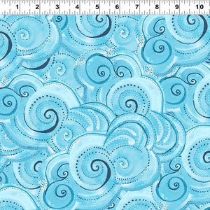 Sea Goddess - Clouds Fabric - Trapunto