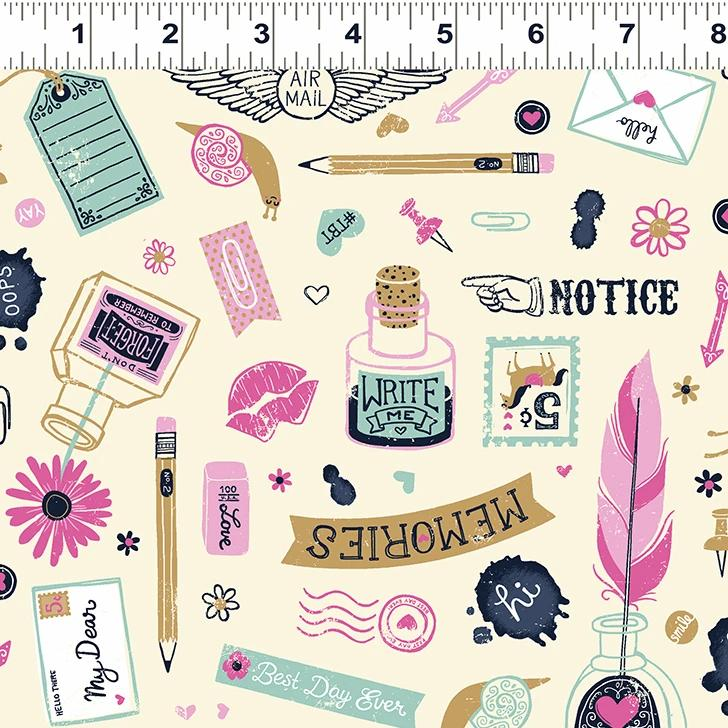 Pen Pal Fabric - Trapunto