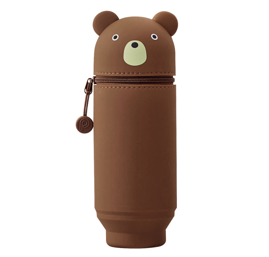 Brown Bear PuniLabo Stand Pencil Case