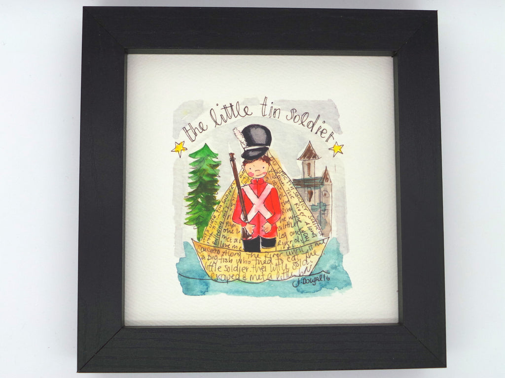 "Little Framed Print ""Little Tin Solder"" can be personalised"