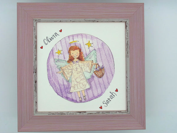 "Little Framed Print ""Angel"" can be personalised"
