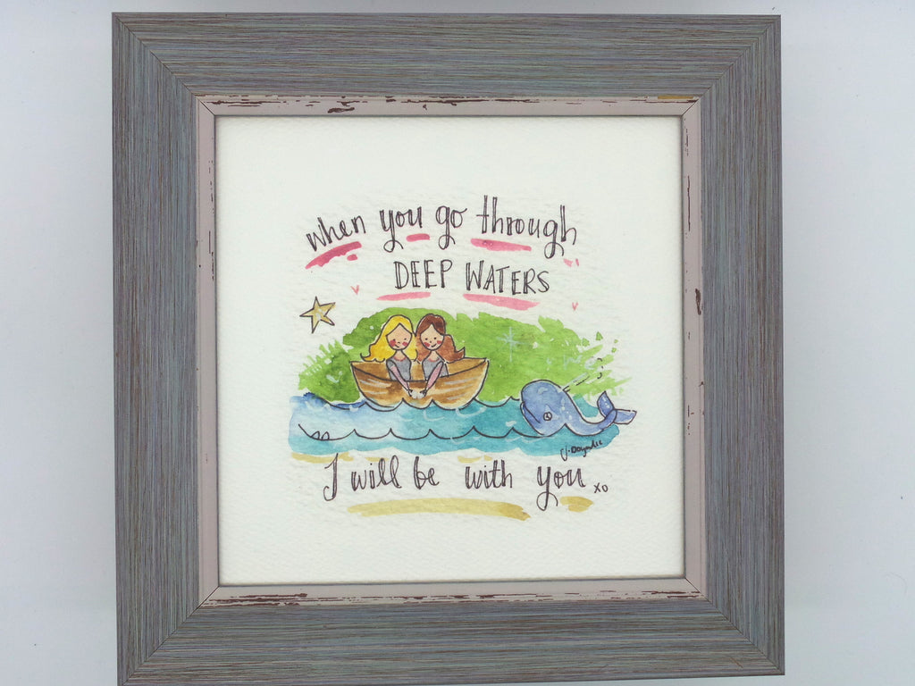 "Little Framed Print ""Deep Waters"" can be personalised"