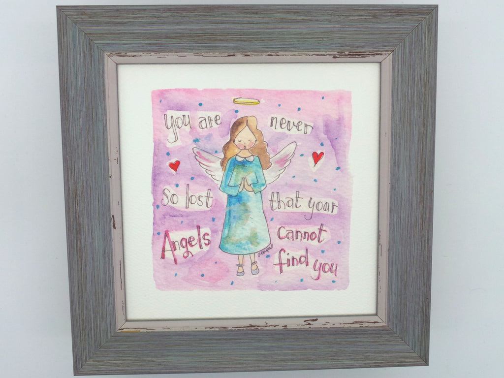 "Little Framed Print ""Never be Lost"" can be personalised"