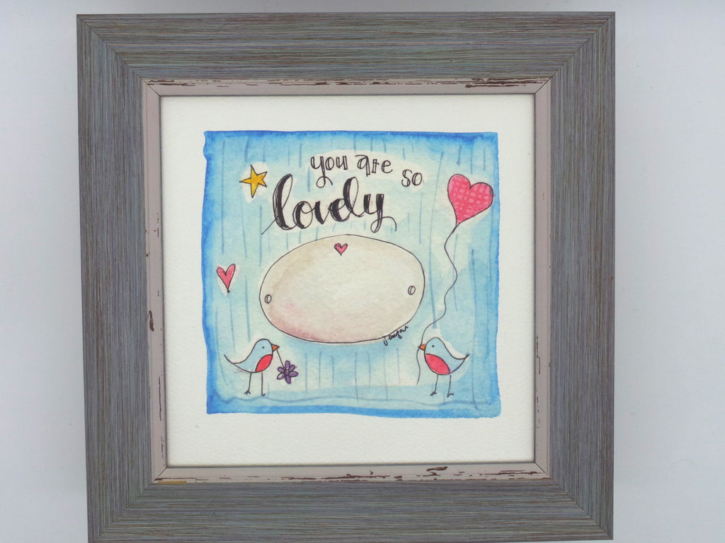 "Little Framed Print ""You are so Lovely"" can be personalised"