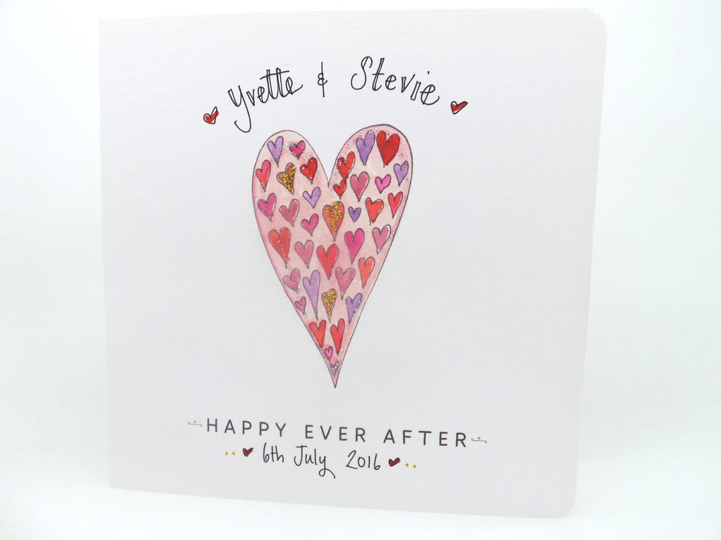 Happy Ever After Wedding Card- Personalised