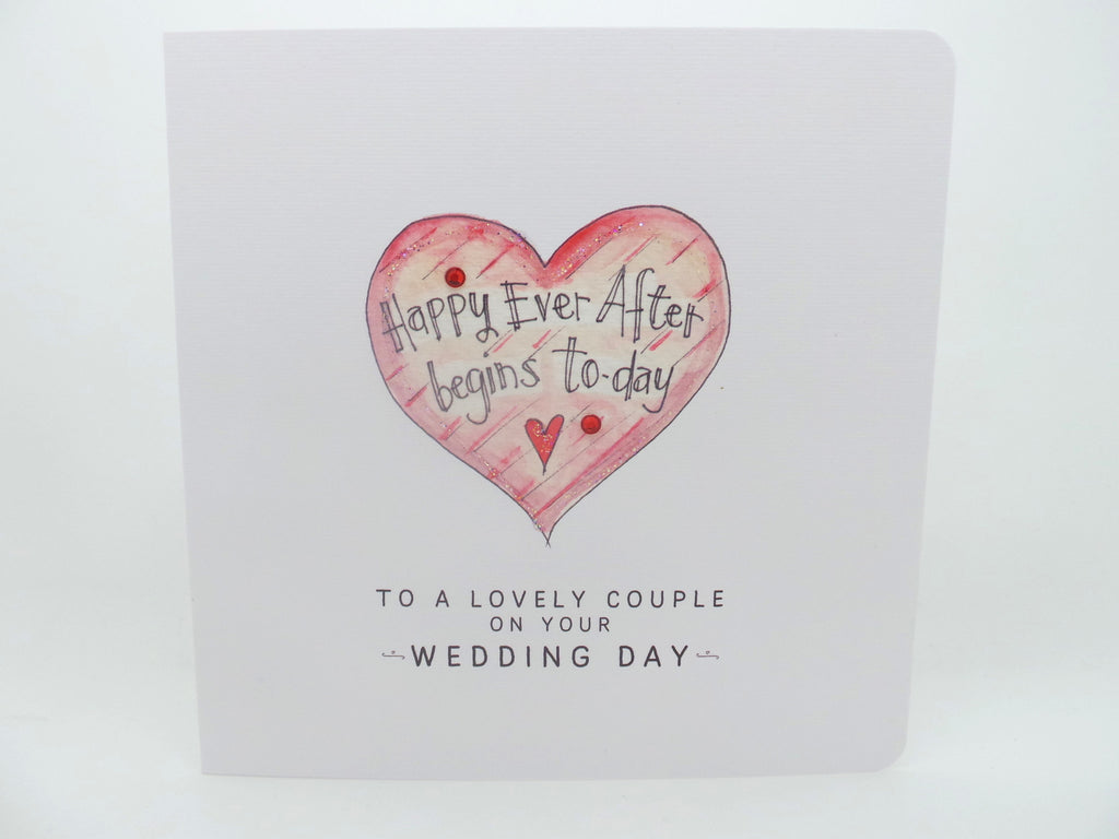 Happy Ever After Begins Today Wedding Card- Personalised
