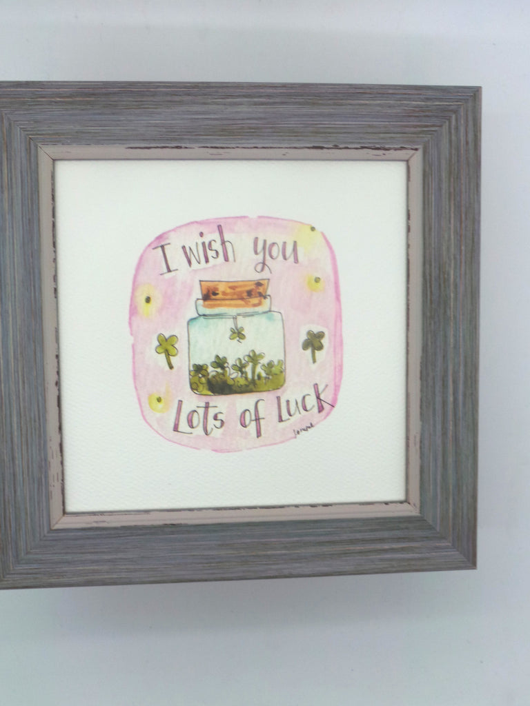 "Framed Print ""Jar of Luck"" can be personalised"