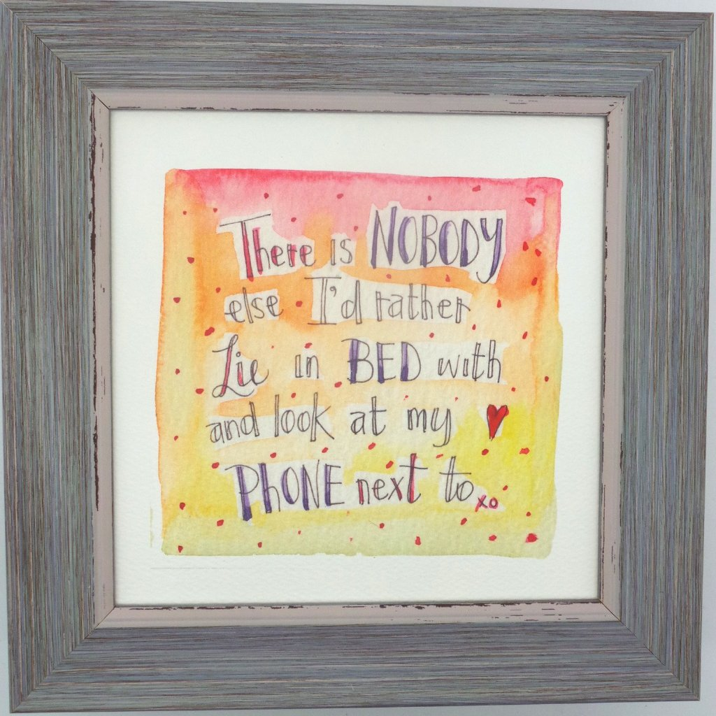 "Framed Print ""Nobody Lie Beside"" can be personalised"