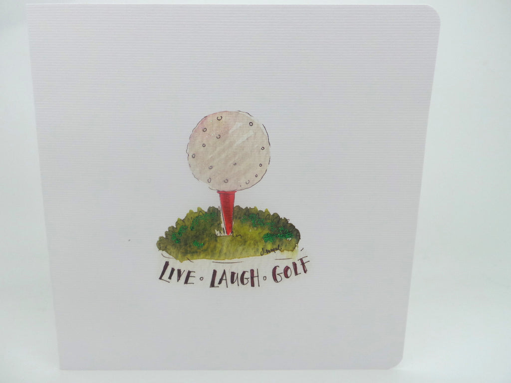 Live Laugh Golf Card - Personalised