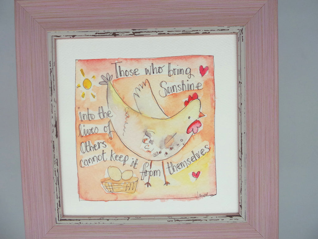 "Framed Print ""Those who bring Sunshine"" can be personalised"