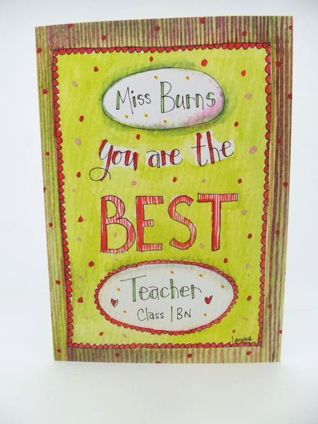 You are the Best Card Long - Personalised