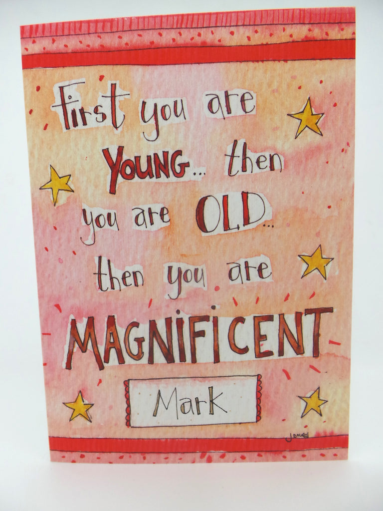 Happy Birthday Magnificent Card Long - Personalised