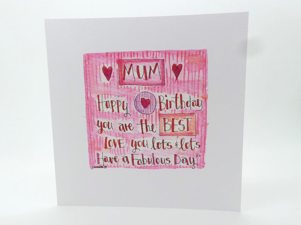 """Mum Happy Birthday"" Card - Personalised"