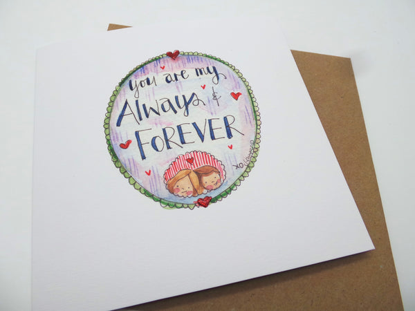 """Always and Forever"" Card - Personalised"