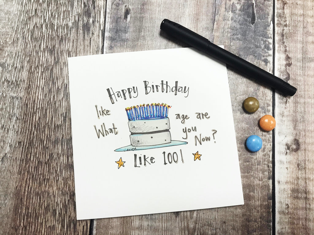 What Age are You Like Card - Personalised