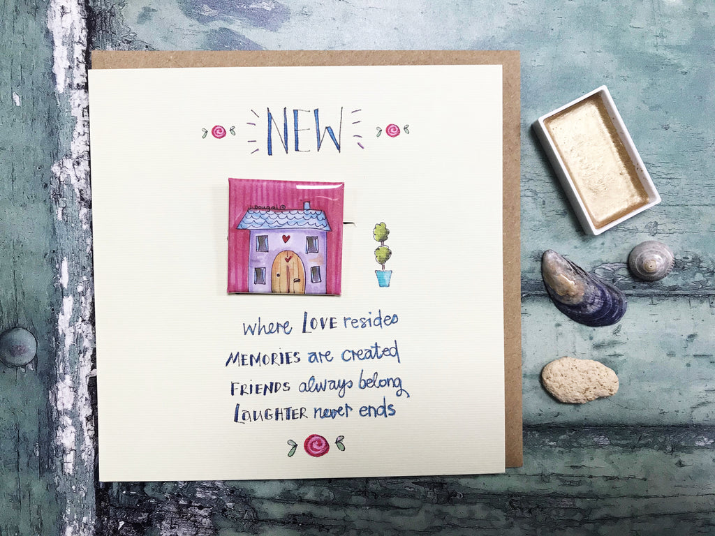"""Little Badge New Home"" Card - Personalised"