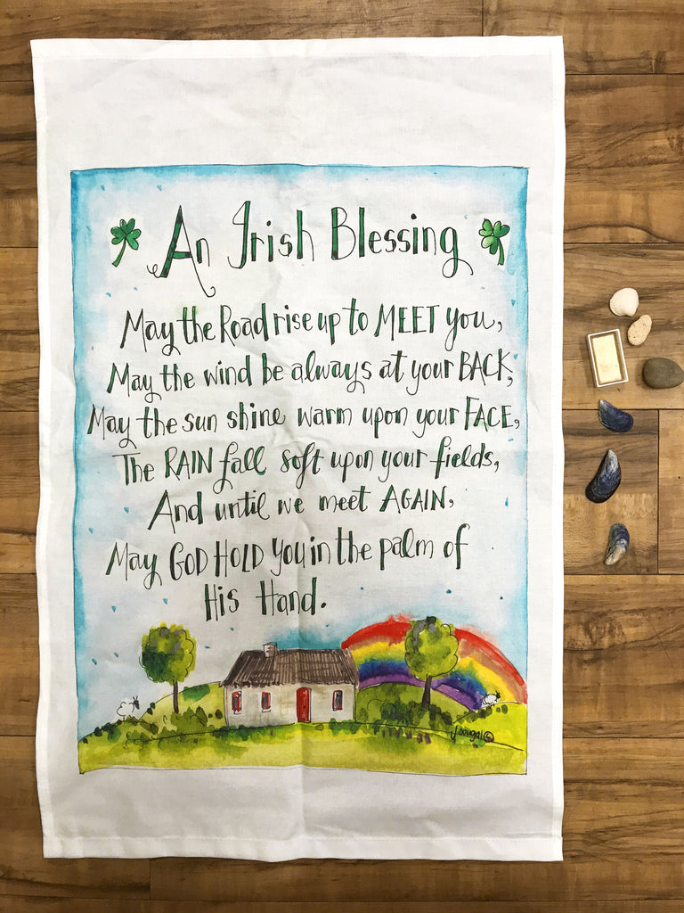 Irish Blessing Teatowel