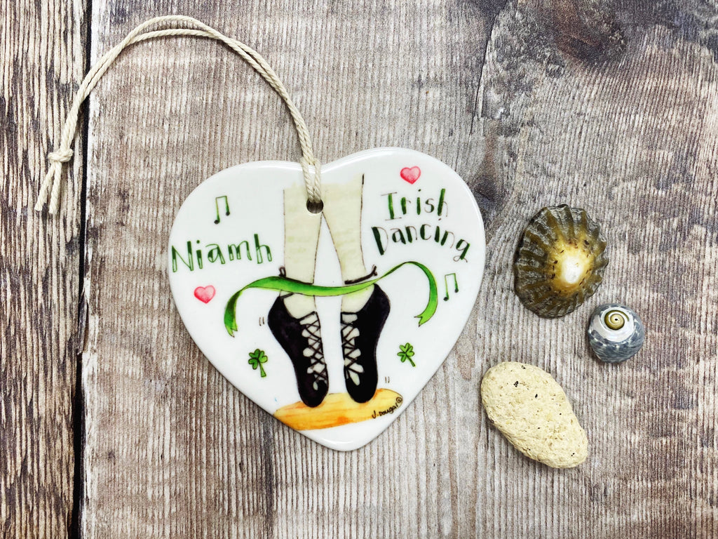 Irish Dancing shoes Ceramic Heart