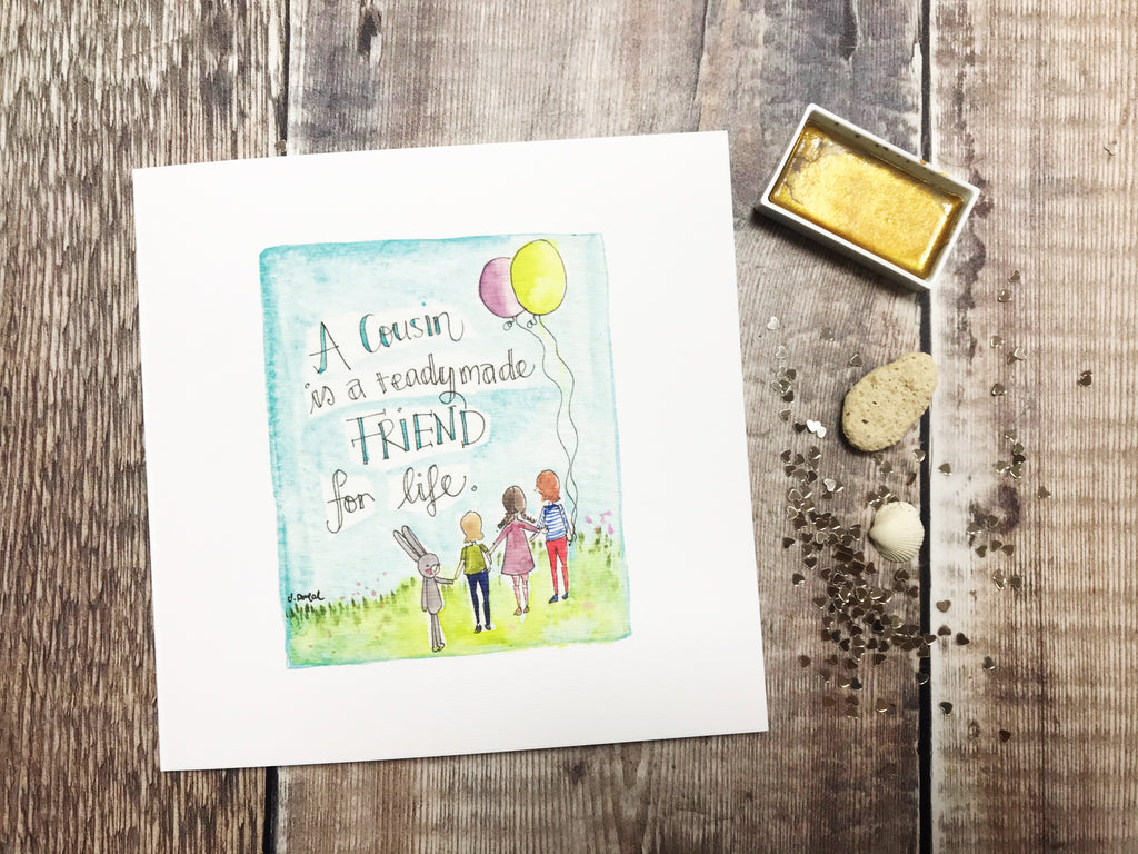 Cousin Readymade Friend Card - Personalised