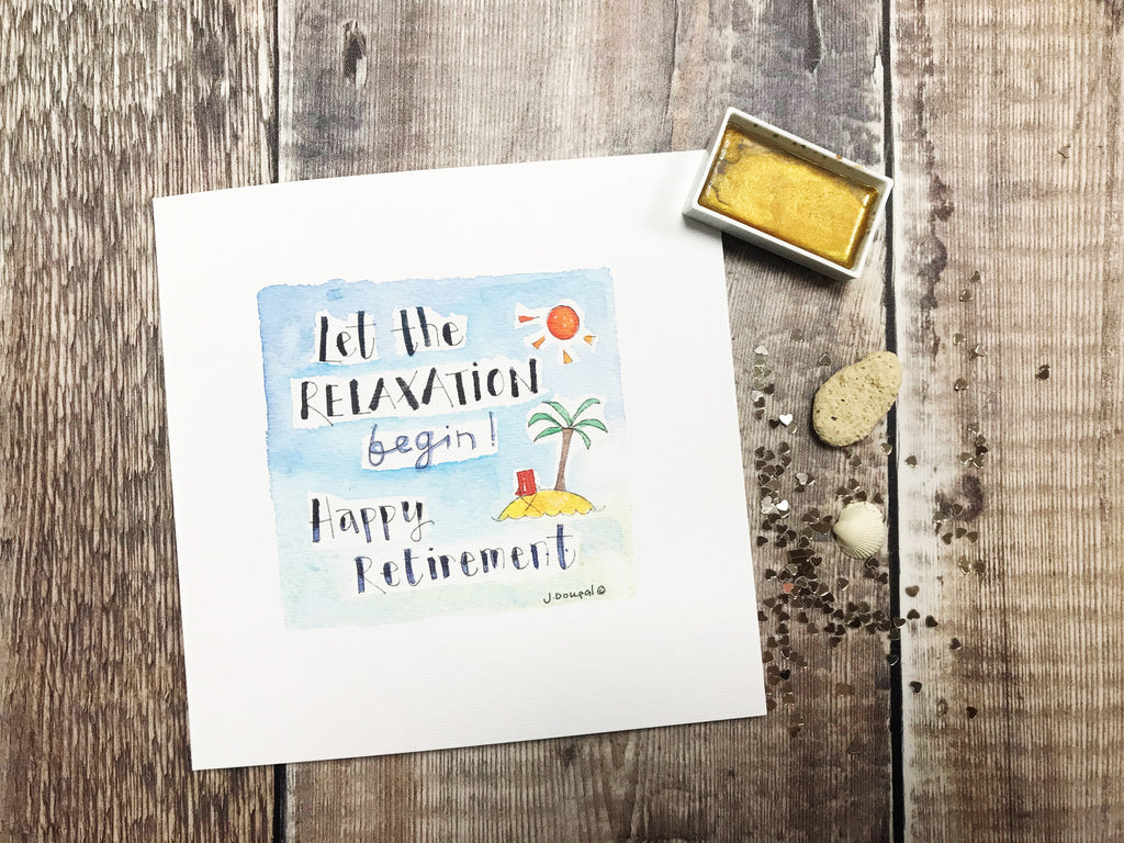 Retirement Beach Card - Personalised