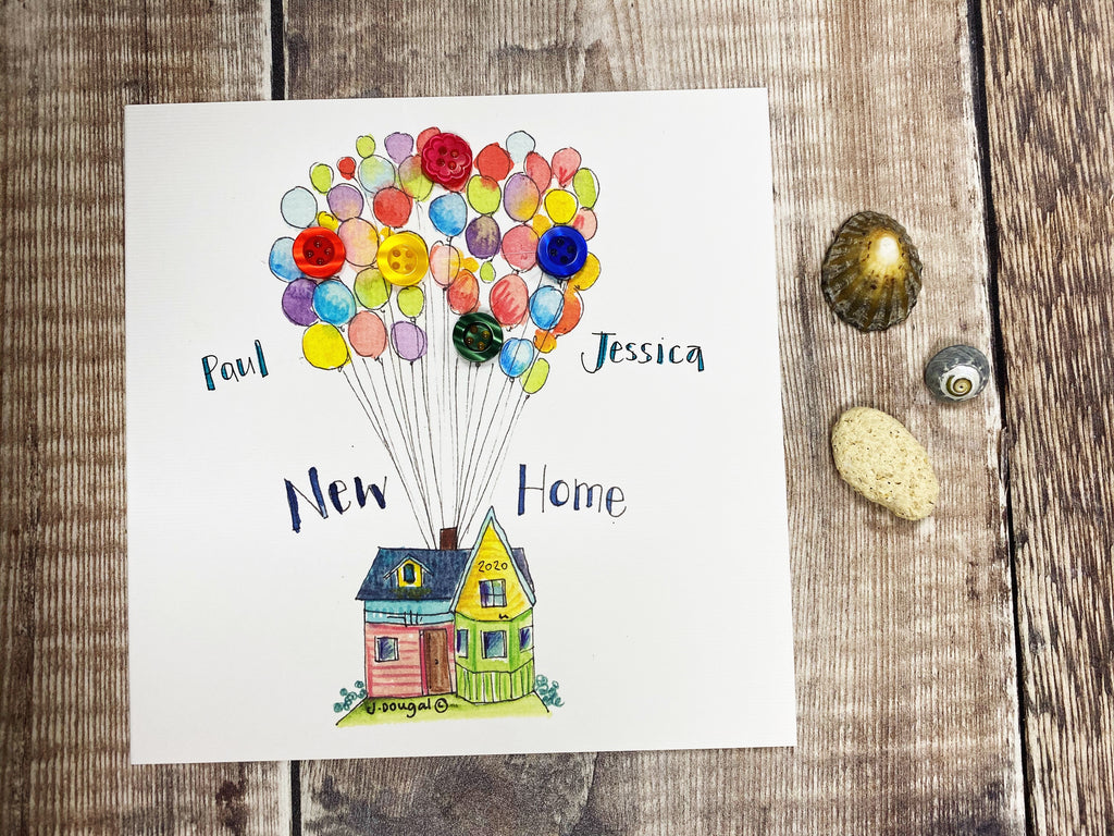 """Up New Home"" Card - Personalised"
