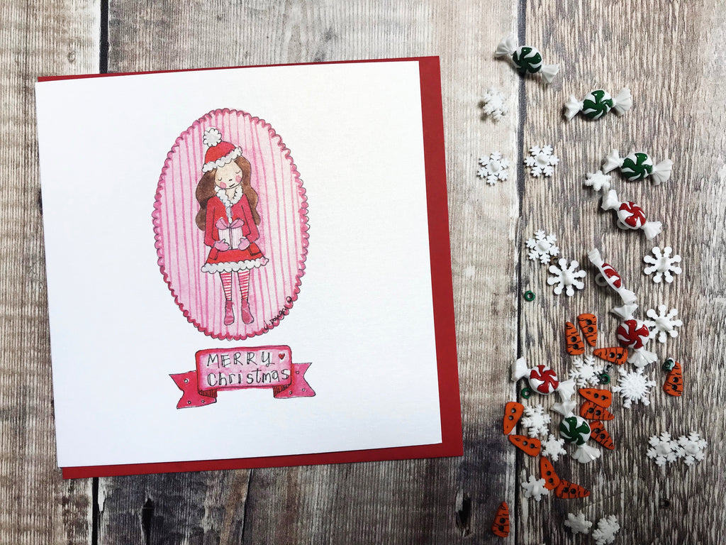 """Little Red Coat"" Christmas Card - Personalised"