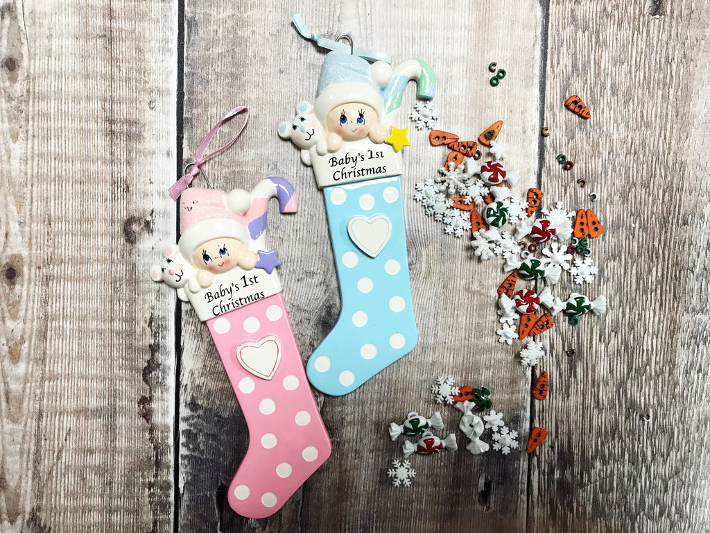 First Christmas Baby Stocking Christmas Decoration