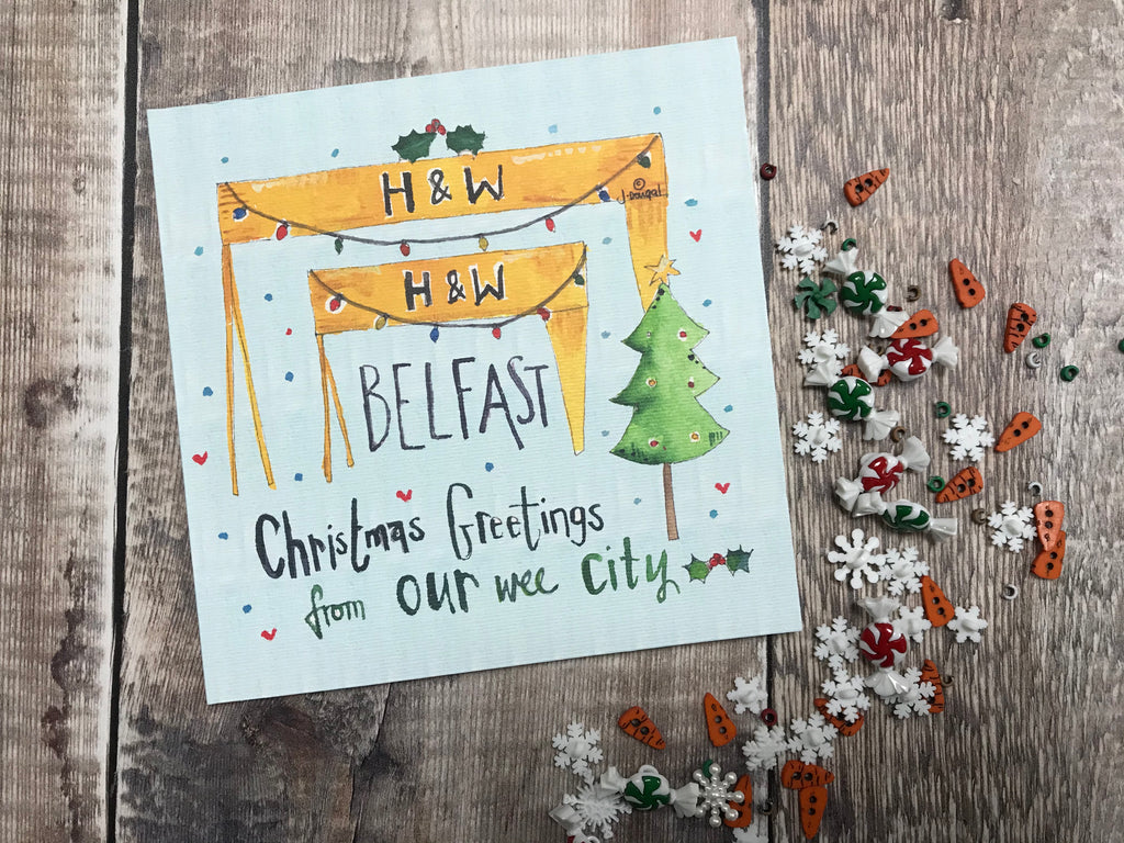 Merry Christmas from Belfast Card Harland and Wolff- Personalised