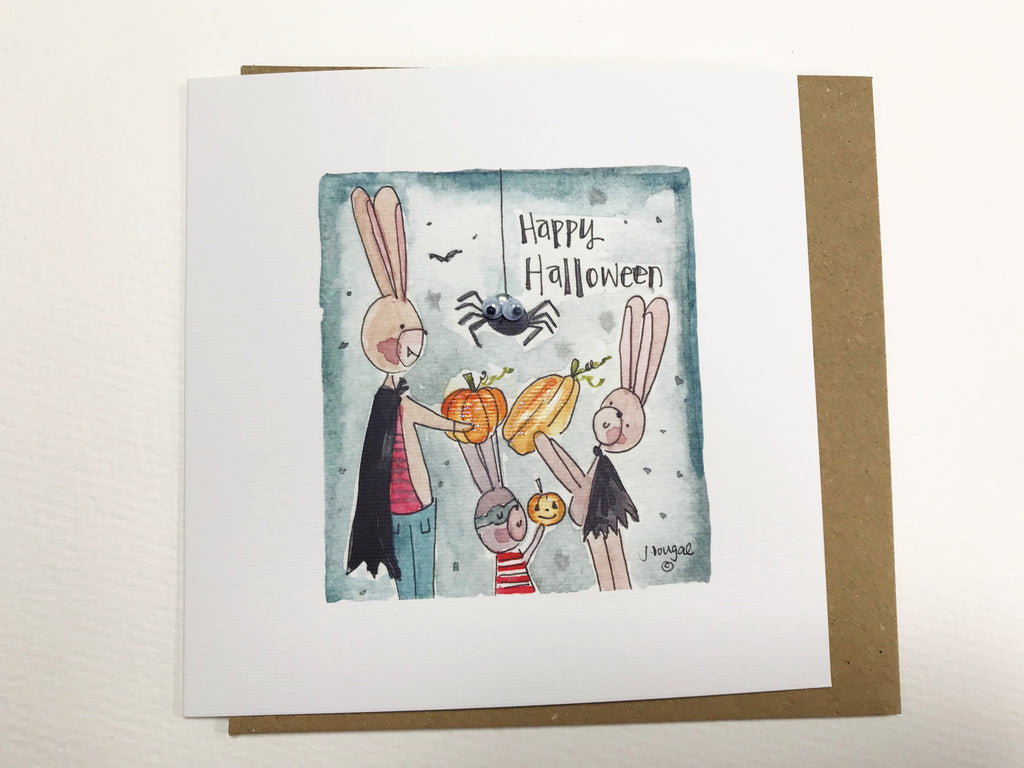 """Halloween Pumpkins"" Card - Personalised"