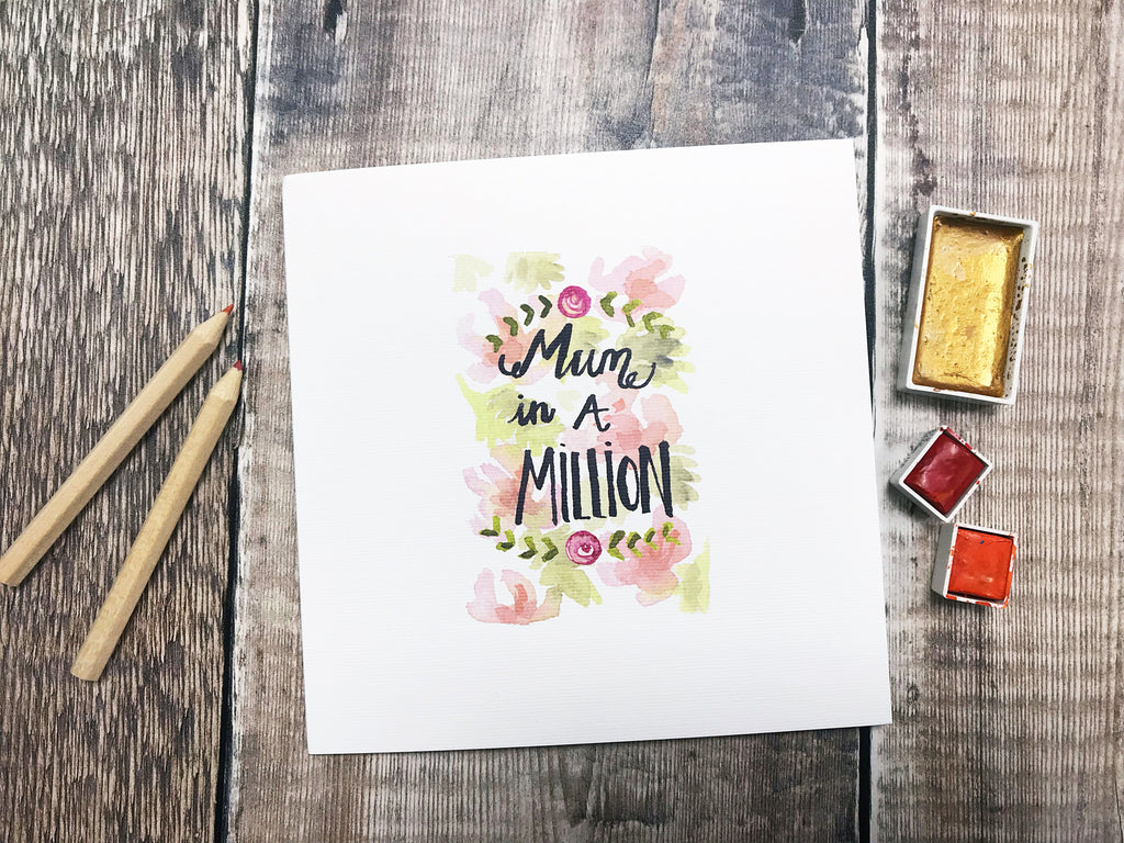 Mum in a Million Card - Personalised