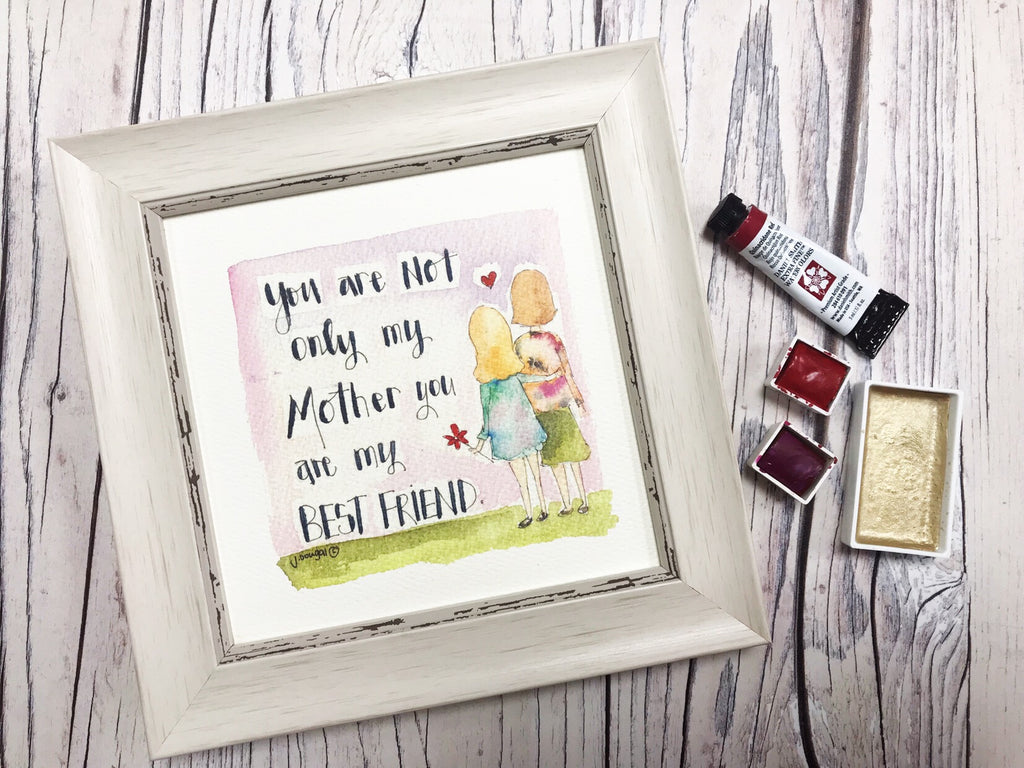 "Framed Print ""Not Only my Mother"" can be personalised"
