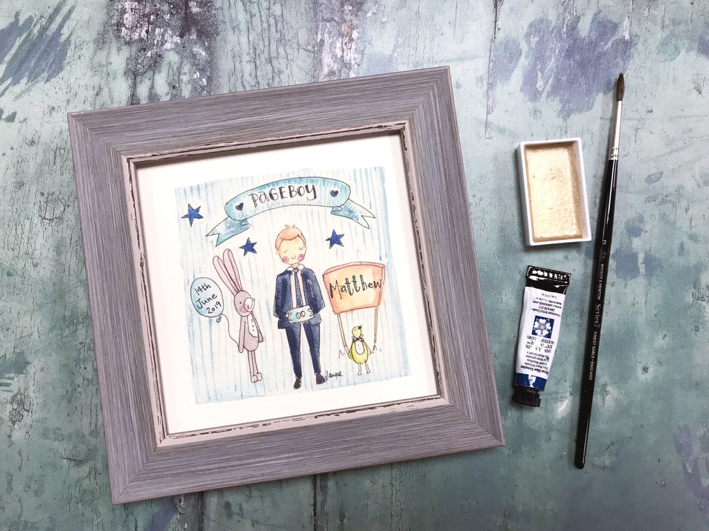 "Framed Print ""Pageboy"" can be personalised"