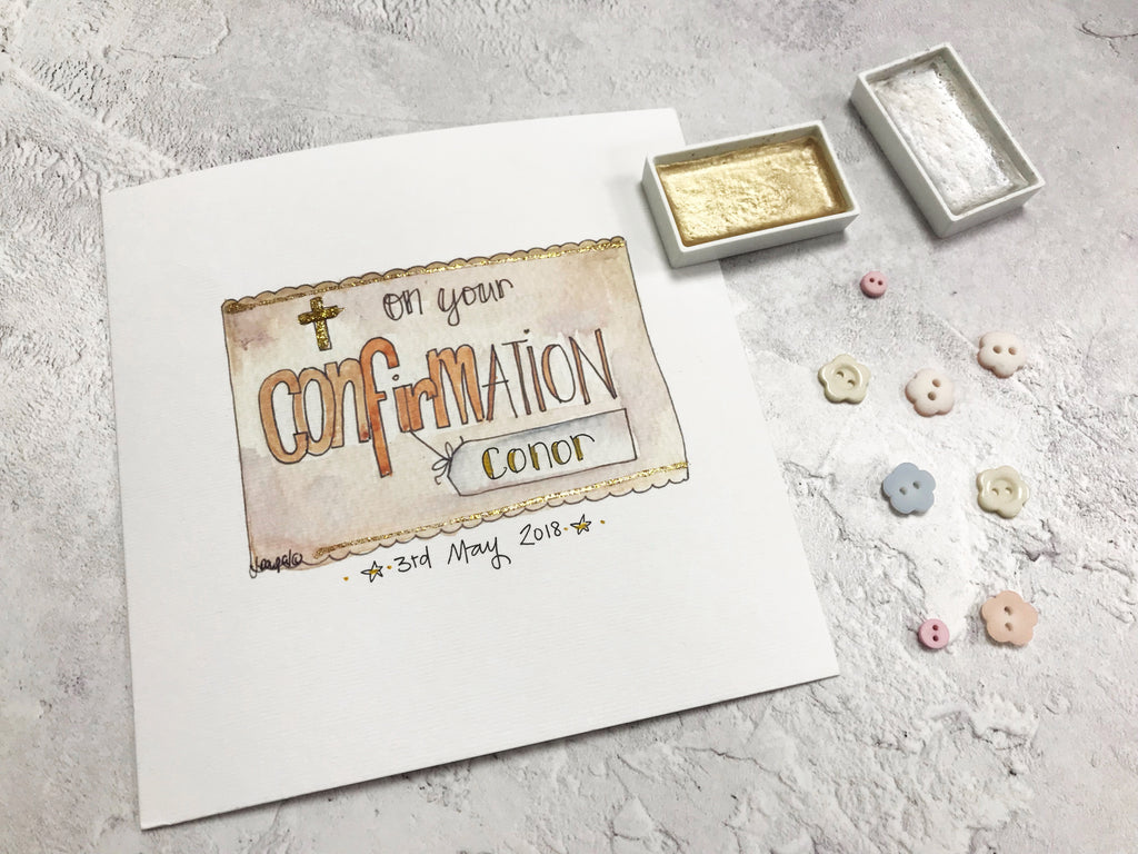 Confirmation Text Card - Personalised