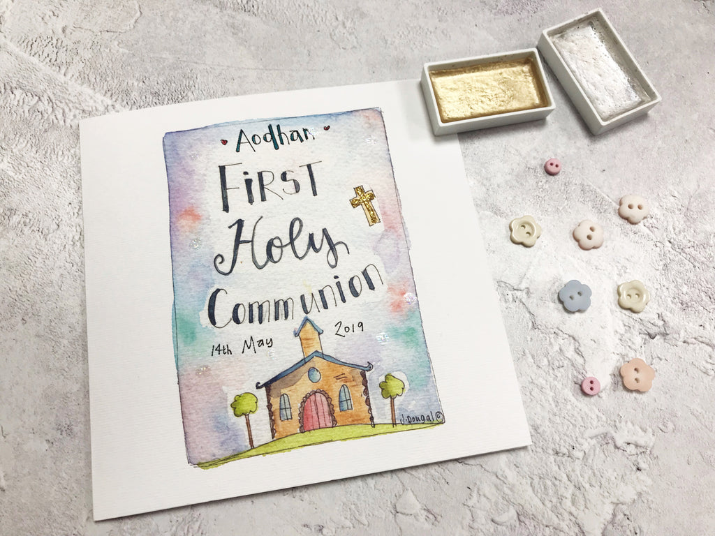 First Holy Communion, Church Card - Personalised