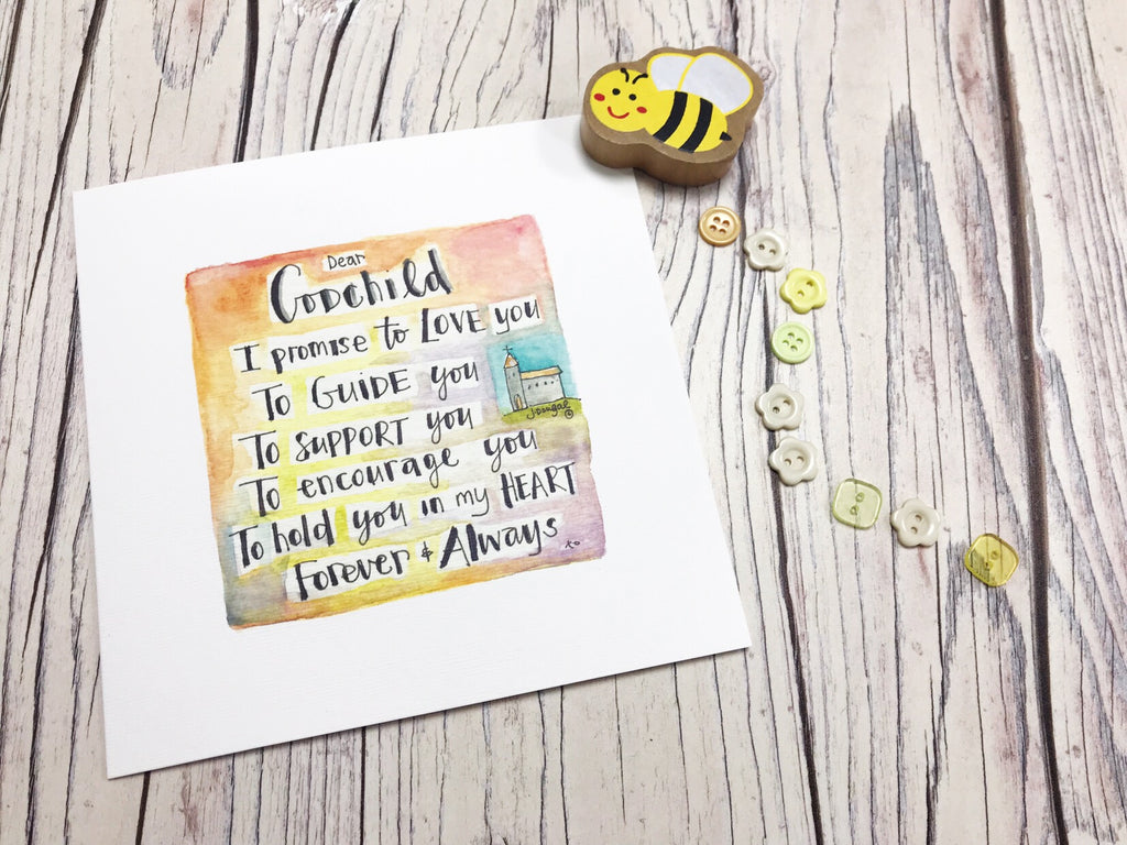 Godchild Card- Personalised